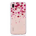 cheap -Case For Huawei P20 lite P20 Pro IMD Transparent Pattern Back Cover Heart Soft TPU for Huawei P20 lite Huawei P20 Pro Huawei P20 P10 Plus