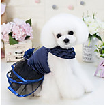 cheap -Dogs Cats Dress Dog Clothes Flower / Floral Lace Dark Blue Purple Cotton / Polyester Costume For Pets Female Stylish Romantic