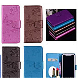cheap -Case For Huawei P8 Lite (2017) P10 Lite Card Holder Wallet with Stand Pattern Embossed Full Body Cases Butterfly Hard PU Leather for P10
