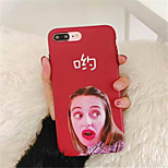 abordables -Funda Para Apple iPhone X iPhone 7 Plus Diseños Funda Trasera Palabra / Frase Suave TPU para iPhone X iPhone 8 Plus iPhone 8 iPhone 7