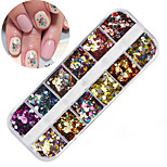 cheap -1pcs Sequins Round Shaped Nail Art Forms