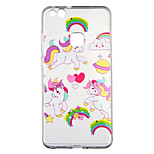 cheap -Case For Huawei P10 Lite Transparent Pattern Back Cover Unicorn Cartoon Soft TPU for P10 Lite