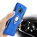 cheap -Case For Motorola MOTO G5 Plus MOTO G4 Plus Shockproof Ring Holder Back Cover Solid Colored Hard PC for Moto X4 Moto G5s Plus Moto G5s