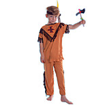 cheap -American Indian Costume Kid's Halloween Festival / Holiday Halloween Costumes Orange American/USA Ethnic