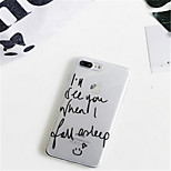 cheap -Case For Apple iPhone 7 Plus / iPhone 6 Plus Pattern Back Cover Word / Phrase Soft TPU for iPhone 7 Plus / iPhone 7 / iPhone 6s Plus