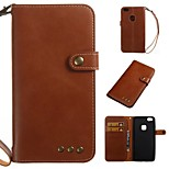 cheap -Case For Huawei P10 P9 Lite Card Holder Wallet Flip Full Body Cases Solid Colored Soft PU Leather for P10 Plus P10 Lite P10 Huawei P9