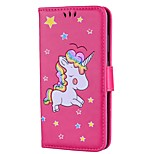 cheap -Case For Huawei P10 P10 Lite Card Holder Wallet with Stand Flip Embossed Full Body Cases Unicorn Hard PU Leather for P10 Lite P10