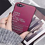 Недорогие -Кейс для Назначение Apple iPhone X iPhone 7 Plus С узором Кейс на заднюю панель Слова / выражения Твердый ПК для iPhone X iPhone 8 Pluss