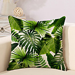 cheap -1 pcs Cotton/Linen Pillow Case Novelty Pillow Pillow Cover, Botanical Fashion Novelty Pastoral Tropical