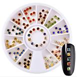 Недорогие -1pcs Украшения для ногтей Художественные / Ретро горный хрусталь Четырехугольник На каждый день Дизайн ногтей