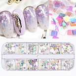 cheap -6pcs Nail Glitter Sequins Simple Nail Art Design