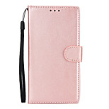 cheap -Case For Xiaomi Redmi Note 5A Redmi Note 4X Card Holder Wallet with Stand Flip Full Body Cases Solid Colored Hard PU Leather for Xiaomi