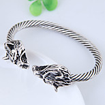 cheap -Men's Women's Cuff Bracelet - Vintage Fashion European Wolf Silver Bracelet For Daily