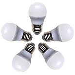 cheap -5pcs 4W 360lm E26 / E27 LED Globe Bulbs G45 8 LED Beads SMD 2835 Warm White 220-240V