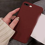 cheap -Case For Apple iPhone X iPhone 7 Plus Ultra-thin Back Cover Solid Colored Soft TPU for iPhone X iPhone 8 Plus iPhone 8 iPhone 7 Plus