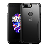 cheap -Case For OnePlus OnePlus 5T 5 Translucent Back Cover Solid Colored Hard PC for One Plus 5 OnePlus 5T
