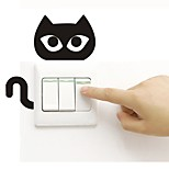 Недорогие -Наклейка на стену Наклейки для выключателя света Наклейки для туалета - Простые наклейки Животные Съемная