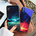 cheap -Case For Apple iPhone X iPhone 8 Shockproof Pattern Back Cover Scenery Hard Tempered Glass for iPhone X iPhone 8 Plus iPhone 8 iPhone 7