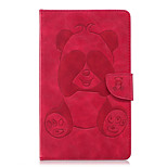 cheap -Case For Amazon Kindle Fire 7(5th Generation, 2015 Release) Card Holder Wallet with Stand Pattern Full Body Cases Panda Hard PU Leather