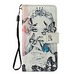 cheap -Case For Xiaomi Redmi Note 5A Redmi Note 4X Card Holder Wallet with Stand Flip Pattern Full Body Cases Butterfly Sexy Lady Hard PU Leather
