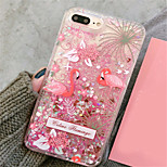 cheap -Case For Apple iPhone X iPhone 7 Plus Flowing Liquid Pattern Back Cover Glitter Shine Hard PC for iPhone X iPhone 8 Plus iPhone 8 iPhone