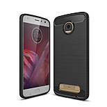 cheap -Case For Motorola MOTO Z2 play Frosted Back Cover Solid Colored Soft TPU for Moto Z2 play