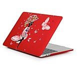 cheap -MacBook Case for Romantic Sexy Lady Flower Plastic New MacBook Pro 15-inch New MacBook Pro 13-inch Macbook Pro 15-inch MacBook Air