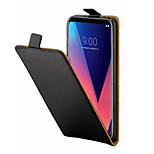cheap -Case For LG V30 Card Holder Full Body Cases Solid Colored Hard PU Leather for LG V30