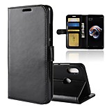 cheap -Case For Xiaomi Redmi Note 5 Pro Redmi 5 Plus Card Holder Wallet with Stand Flip Magnetic Full Body Cases Solid Colored Hard PU Leather