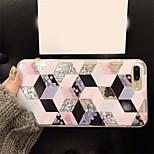 Недорогие -Кейс для Назначение Apple iPhone X iPhone 7 Plus Движущаяся жидкость С узором Кейс на заднюю панель Геометрический рисунок Твердый ПК для