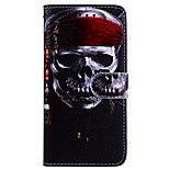 cheap -Case For Huawei P10 Lite P9 Lite Card Holder Wallet with Stand Flip Pattern Full Body Cases Skull Hard PU Leather for P10 Lite Huawei P9