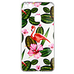 cheap -Case For Huawei P10 Lite Transparent Pattern Back Cover Plants Flamingo Soft TPU for P10 Lite