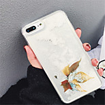 cheap -Case For Apple iPhone X iPhone 7 Plus Flowing Liquid Pattern Back Cover Cartoon Soft TPU for iPhone X iPhone 8 Plus iPhone 8 iPhone 7