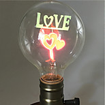 Недорогие -1шт 2 Вт. E26/E27 G80 Тёплый белый 2200-2800k К Ретро Декоративная Лампа накаливания Vintage Эдисон лампочка 220-240V