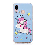 cheap -Case For Huawei P20 lite P20 Pro Glow in the Dark IMD Pattern Back Cover Unicorn Shine Soft TPU for Huawei P20 lite Huawei P20 Pro Huawei