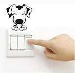 Недорогие -Наклейка на стену Декоративные наклейки на стены Наклейки для выключателя света Наклейки на холодильник Наклейки для туалета - Простые