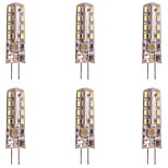 abordables -WeiXuan 6pcs 2W 160lm G4 LED à Double Broches T 32 Perles LED SMD 3014 Blanc Chaud Blanc Froid 220-240V