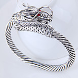 cheap -Men's Women's Dragon Cuff Bracelet - Vintage Fashion European Silver Bracelet For Daily