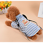 cheap -Dogs Cats Shirt / T-Shirt Dog Clothes Striped Bear Brown Blue Cotton Fabric Costume For Pets Female Male Classic Style Casual / Daily