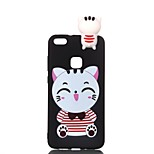 cheap -Case For Huawei P20 lite P10 Lite Pattern DIY Back Cover Cat Cartoon Soft TPU for Huawei P20 lite P10 Lite P10 P8 Lite (2017)