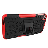 cheap -Case For HTC Desire 630 Desire 628 Shockproof with Stand Armor Back Cover Tile Armor Hard PC for HTC Desire 630 HTC Desire 530 HTC A9