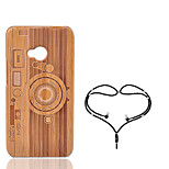 cheap -Case For HTC One M7 Shockproof Back Cover Geometric Pattern Hard Bamboo for HTC One M7