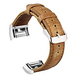 cheap -Watch Band for Fitbit Charge 2 Fitbit Classic Buckle Genuine Leather Wrist Strap