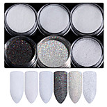 cheap -6pcs Tool Bags Glamorous Glitter Art Supplies Wedding Party Dailywear Nail Art Tips Nail Art Design