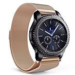 abordables -Ver Banda para Gear S3 Frontier Samsung Galaxy Hebilla Moderna Metal Acero Inoxidable Correa de Muñeca