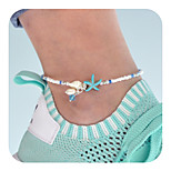 cheap -Synthetic Tourmaline Anklet - Starfish Vintage White For Daily / Holiday