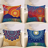 cheap -4 pcs Cotton/Linen Pillow Case Novelty Pillow Pillow Cover, Spots & Checks Artwork Geometic Artistic Style Pattern