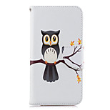cheap -Case For Huawei P20 lite P20 Card Holder Wallet with Stand Flip Pattern Full Body Cases Owl Hard PU Leather for Huawei P20 lite Huawei