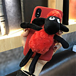 cheap -Case For Apple iPhone X iPhone 7 Plus Pattern Back Cover Cartoon Soft Textile for iPhone X iPhone 8 Plus iPhone 8 iPhone 7 Plus iPhone 7