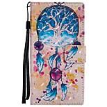 Недорогие -Кейс для Назначение Sony Xperia XZ Xperia XA1 Бумажник для карт Кошелек со стендом Флип Магнитный Чехол Ловец снов Твердый Кожа PU для